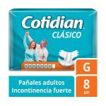 Pañales de Adulto Cotidian Clásico Incontinencia Fuerte 8 un G