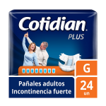 Pañales de Adulto Cotidian Plus Incontinencia Fuerte 24 un G