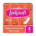 Toalla Femenina Ladysoft Plana Sin Alas 8 un